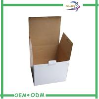Stable White Glossy Customized Corrugated Paper Box Fashion Design Manufactures