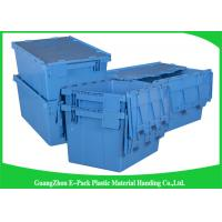 China Euro Nestable Heavy Duty Plastic Storage Containers , Plastic Box With Hinged Lid Leakproof on sale
