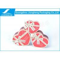 China UV Printing Cardboard Gift Boxes , Heart Shaped Chocolate Box Packaging wholesale