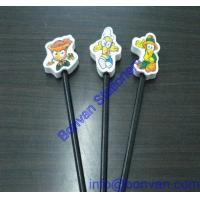 China personalized promotional pencil eraser, pencil topper eraser,gift promotion eraser on sale