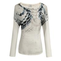 White Ladies Long Sleeve T Shirt , ladies fashionable clothes Manufactures