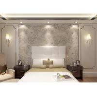 Tear Resistant Floral Dining Room Wallpaper Creamy White Waterproof Manufactures