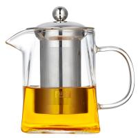 China 2018 new design square shape Heat-Resistant Borosilicate pyrex glass teapot with SS infuser wholesale