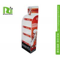 China Supermarket Cardboard Display Shelf Stand / Corrugated Counter Display With Holes on sale