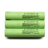 High Capacity 3.6V Cylindrical Lithium Battery 2250mAh , Panasonic 18650 Battery Manufactures