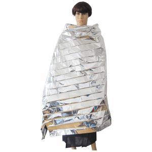 China Waterproof Portable Emergency Blanket in Silver on sale