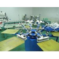 China Hot sale 4/6/8/12 colors manual silk screen printing machine for Tshirt with 40*50cm 50*60cm worktable wholesale