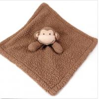 China Bean Sprout Brown Baby Gear Monkey Security Blanket For Travel / Bedding on sale