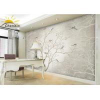 Bamboo Charcoal Fiber Fabric Wallpaper Wall Coverings Softness Living Room TV Background Wall Manufactures