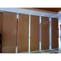 China Interior Wood Folding Doors Office Acoustic Room Dividers ,  Sound Proof Movable Partition Walls wholesale