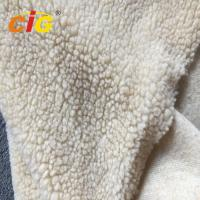 China Acrylic Polyester Sherpa Long Pile Faux Fur Fabric For Seat Cover Garment wholesale