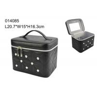 Modern Luxury Black Leather Jewellery Box , Personalized Travel Jewelry Case Manufactures