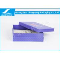 Purple Printed 1200 gsm Cardboard Paper Gift Boxes With Logo Red Hot Stamped Manufactures