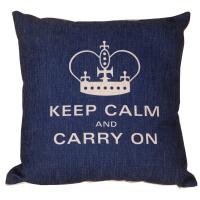 China Classical printed Cotton and Linen Cushion Cover Crown Cushion Cover 45*45cm on sale