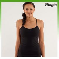China Sexy Trendy Customized Hot Yoga Clothes , Black / Pink Ladies Fitness Clothing on sale