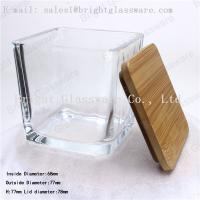 Square wooden/ bamboo lid of glass container Manufactures