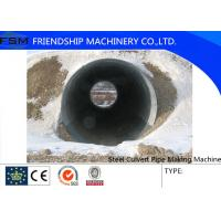 Storm Sewage Culvert Pipe Making Machine Half Cycle Galvanised Corrugated Steel Road Culvert Manufactures