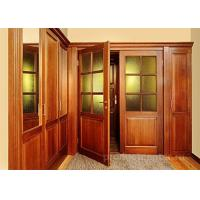 China Double Wood And Glass Front Door Single Swing Open Style For Living Room on sale