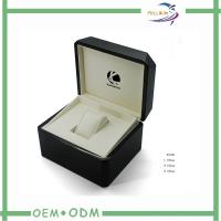 China Plastic Watch Package Boxes With Hot Stamping Logo , Leather Inside wholesale