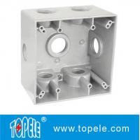 China Powder Coated 3 Holes Two Gang Weatherproof Electrical Boxes on sale