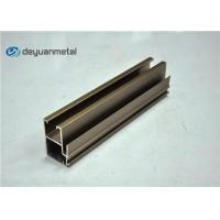 Champagne Anodized Aluminum Extrusions Windows Profile 20 foot Manufactures
