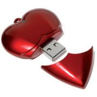 custom printed logo or engraved available  heart shape valentine day gifts USB flash drive 1GB - 16GB  Manufactures