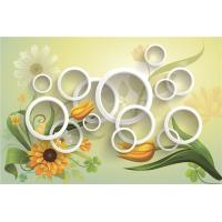 China Contemporary Bamboo Fiber Art 3D Wall Panels Chrysanthemum And Five Rings on sale
