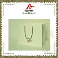 Recycled Luxury White Card Paper Bags For Gift , Printed Hot Stamping Logo Manufactures
