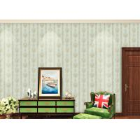 European Style Floral Beige Non Woven Wallpaper for house decoration Manufactures