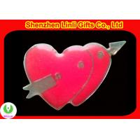 Hot-selling heart shaped digital led name badge led digital badge good valentines day gifts Manufactures