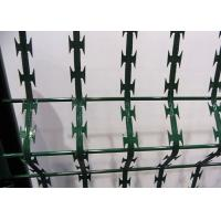 China Welded Galvanized And Pvc Coated Razor Blade Mesh Sheet BTO-22 For Security Fence wholesale