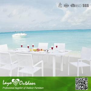 China Small Extendable Dining Table Set Pool Patio Furniture Colorfast Minimum Maintenance wholesale