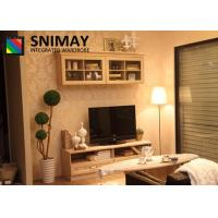 China Contemporary Wooden TV Cabinets / Flat Screen TV Stands With Laminate Wardrobes on sale