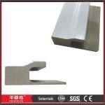 China White WPC Door Mouldings Exterior Door Trim 5.412m WPC J - Channel For Door wholesale