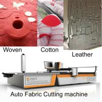 China Knit garments 2m Width Clothes Cutting Machine For Polo Shirt / Hoodie / Tank Top on sale