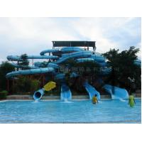 Custom 4 Lines Open Spiral Slide Aquasplash Children Water Slides Manufactures