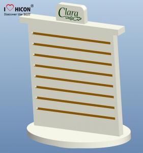 China Merchandising Pop Counter Display Racks , Slatwall Spinner Display Rack No Hooks wholesale