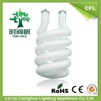 China High Lumen Half Spiral 14mm CFL Glass Tube , Triple Tube Compact Fluorescent wholesale