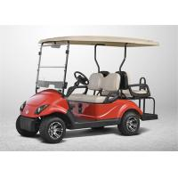 Red Street Legal 4 Seater Golf Carts , Club Car Electric Golf Cart With Yamaha LED Lights