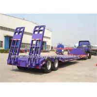 SKD type low bed trailer truck with 2 axles , gooseneck lowboy trailers for machine transportaion Manufactures