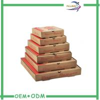 Printed Strong Corrugated Pizza Box Customized With Several Sizes Manufactures