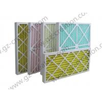 China Cardboard Pleated Panel Filter for Air Conditioning on sale