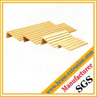 China floor Brass non-slip nosing profile sections brass floor stair noising on sale