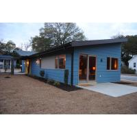 Wooden Plastic Decorate Modular Homes , Prefabricated Bungalow Homes