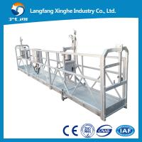China ZLP800 steel structure suspended platform / electric winch gondola / hanging scaffolding on sale