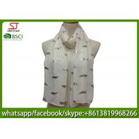 China China supplier leaf print scarf 20%Cotton 80%Polyester 70*180cm shawl sun protection factory direct supply on sale