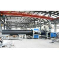 China PP / Pe Pipe Extrusion Line , Sprial Pipe Production Line For Sewage Treatment wholesale
