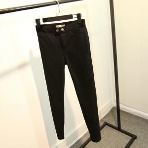 Button Closure Black Womens Jogging Bottoms , Plus Size Ladies Jogging Pants Manufactures