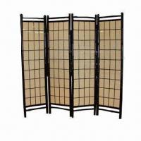 Bamboo folding screen panel room divider Manufactures