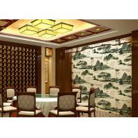 Chinese Landscape Ancient Poetry Interior Room Wallpaper Hotel / TV Background Wallpaper Manufactures